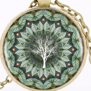 New Cicada and Tree Cabochon Necklace